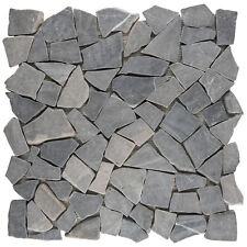Naturstein Bruch Mosaik Marmor Anthrazit Boden Fliesenspiegel   1Matte ES 35380