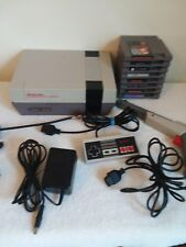Nintendo NES System Console Bundle With 1 Controller, Zapper & 8 Games, Tested!!