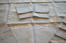 Service à Thé : Ancienne Nappe & ses 12 serviettes Brodées -  LA CIGALE