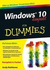 Windows 10 kompakt für Dummies von Andy Rathbone (2015, Taschenbuch)