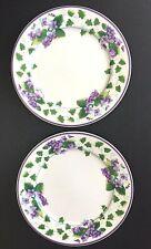"2 Waverly Sweet Violet Dinner Plates 11"""
