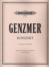 Harald Genzmer - Konzert für 2 Klarinetten in B und Klavier (Konzertfassung)