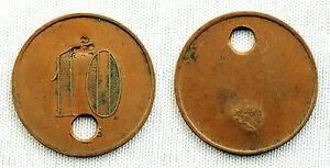 II REPUBLICA FICHA 10 CENTIMOS COBRE