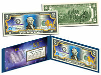 LEO * Horoscope Zodiac * Genuine Legal Tender Colorized U.S. $2 Bill