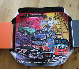 UAW-GM Dale Earnhardt, Jeff Gordon, Jr w/Sam Bass Auto 2000 NASCAR Poster 23x21