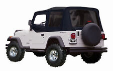 1988-1995 Jeep Wrangler Soft Top Upper Doors & Tinted Windows Black 9870215