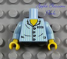 NEW Lego Boy/Girl Light BLUE MINIFIG TORSO w/Striped White Shirt -Jay Pajamas