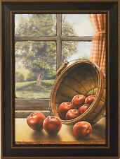 RED DELICIOUS by Doug Knutson 12x16  FRAMED PRINT PICTURE Apples Basket Kitchen