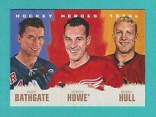 2011-12 Upper Deck 1 Hockey Heroes 1950's Art Card #HH-13 Bathgate/Howe/Hull