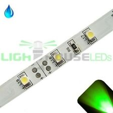 Green - PLCC2/3528 12V LED Strip - Adhesive Backing - Water Resistant - 5m Roll