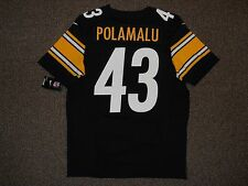 Troy Polamalu Black Pittsburgh Steelers Authentic Nike Elite Jersey sz 40 w/ tag