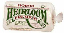 Hobbs Heirloom Premium Cotton Wadding/Batting - Multiple Sizes Available