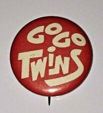 "RARE Vintage 1960s Minnesota Twins ""GO GO TWINS"" RARE Pin Button"
