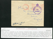 RHODESIA: (17535) Hillside Camp/censor cancel/cover