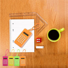 Mini Portable Calculator with Hook & Maze Game Office School Gifts Random Color