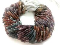 """1 Strand Natural Multi Spinel Rondelle Faceted 3.5-4mm Gemstone Beads 13""""inch"""