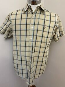Mens Penguin MunsingWear Classic Plaid Short Sleeve Button Up Shirt Large
