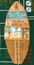 Mellow Militia Tiki Toss Surf Edition Hook And Ring Game Board Bamboo Wood New