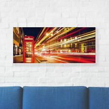 """London Printed Canvas Art 22"""" (56cm) x 10"""" (25cm) Beautiful For Home"""