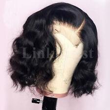 Natural Body Wave Lace Front Wig Short Bob Full Wigs Peruvian Pure Human Hair Pg