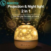 Night Light Projector With USB Cable Powered Starry Sky Romantic Rotating