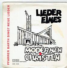 """CHANSONS MODERNE CHRETIENS DIEU Cur�� H. BARTH Disque 45T 7"""" EP LIEDER EINES RARE"""