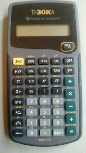 Texas Instruments TI-30XA Scientific Calculator 10-Digit Display Tested-Works