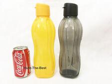 x2 H2O On The Go Eco Water Drink Bottle Sport Flip Top Cap 1.0L Tupperware
