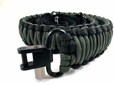 Black and OD Green Paracord 550 Adjustable Rifle Gun Sling Strap with Swivels