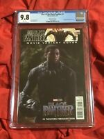 CGC 9.8~RISE OF THE BLACK PANTHER #1~CHADWICK BOSEMAN PHOTO MOVIE VARIANT~