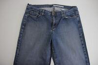 DKNY Women's Jeans Pants Size 12R BLUE Straight Leg Inseam 30 Stretch Spandex