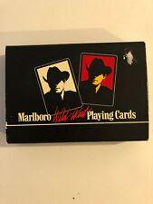 Vintage MARLBORO Playing Cards WILD WEST White RED 1991 2 Deck Cowboy MAN New