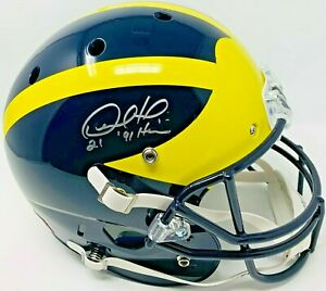 Michigan Desmond Howard Signed '91 Heisman Replica Schutt Helmet Fanatics