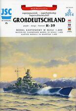 Superschlachtschiff GROSDEUTSCHLAND Entwurf H-39  Maßstab 1:400  JSC 75