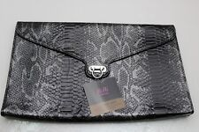 RiRi by Rihanna Black Snakeskin Print Large Handbag Womens Purse New with Tags