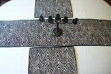 Set 2 Zebra Animal Print Placemats and Matching Table Runner