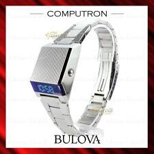 New Bulova Computron Digital Led Display Blue 96C139 - Retro Back To The Future