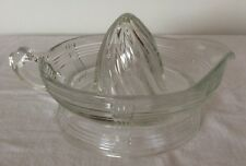 Hazel Atlas Criss Cross Crystal Depression Glass Juice Reamer