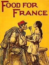 PROPAGANDA WAR WWI UK FOOD FRANCE CHARITY SOLDIER ART POSTER PRINT LV7257