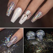 Beauty Rainbow Holographic Laser Powder Nail Glitter Chrome Pigments Decoration