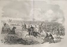 1861 Civil War newspaper 1st BATTLE BULL RUN Lg Display POSTER Manassas Virginia