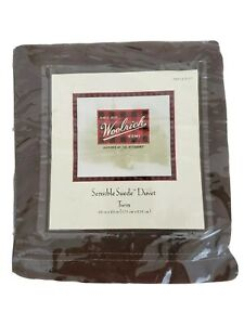 Woolrich Home Duvet Chocolate Brown Twin Size Sensible Faux Suede