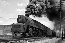 Pennsylvania Railroad T-1 Sharknose 5518 photo Steam Locomotive Train 1940s
