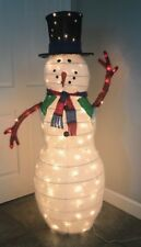5 ft prelit indoor/outdoor Snowman collapsible lighted lawn/yard decoration