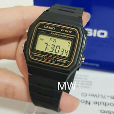 CASIO F91WG-9A DIGITAL BLACK RESIN Classic Sports Alarm Chronograph WATCH NEW