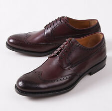 NIB $895 CANALI 1934 Goodyear Welt Burgundy Wingtip Derby US 9.5 D Dress Shoes