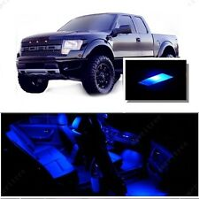 For Ford Raptor 2010-2014 Blue LED Interior Kit + Blue License Light LED