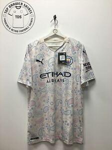 Manchester City Third 3rd Football Shirt 2020/2021 Men's XL Extra Large BNWT