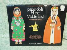 """Lc-812 Paper dolls/Coloring Bk: """"Paper Dolls of the Middle East to color & cut"""""""