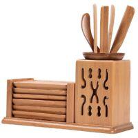 Chinese Style Tea Ceremony Six Gentleman Tea Set Tea Table Solid Wood BambooL8Z6